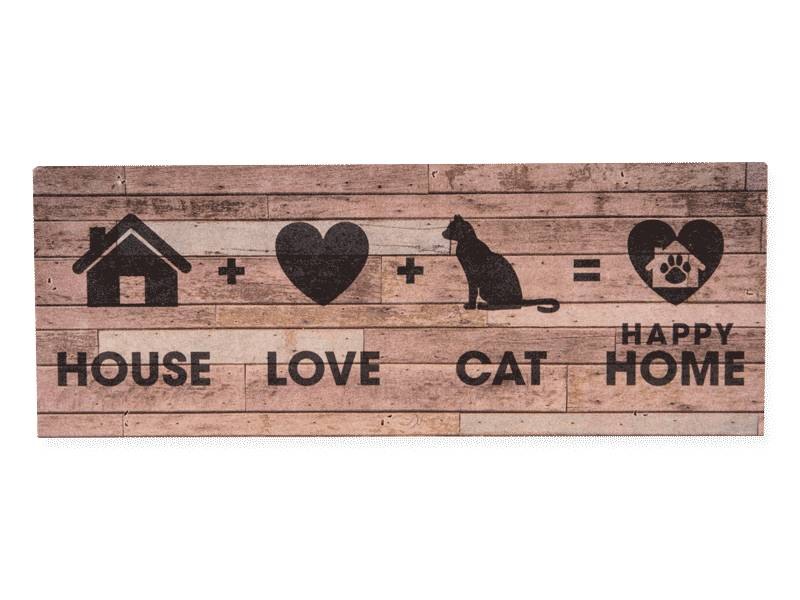 Dog Speak Dog Speak Large Pallet Box Sign House + Cat + Love = Home