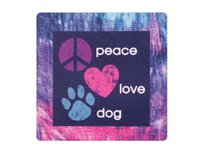 Dog Speak DOG SPEAK ABSORBENT STONE COASTER PEACE LOVE DOG