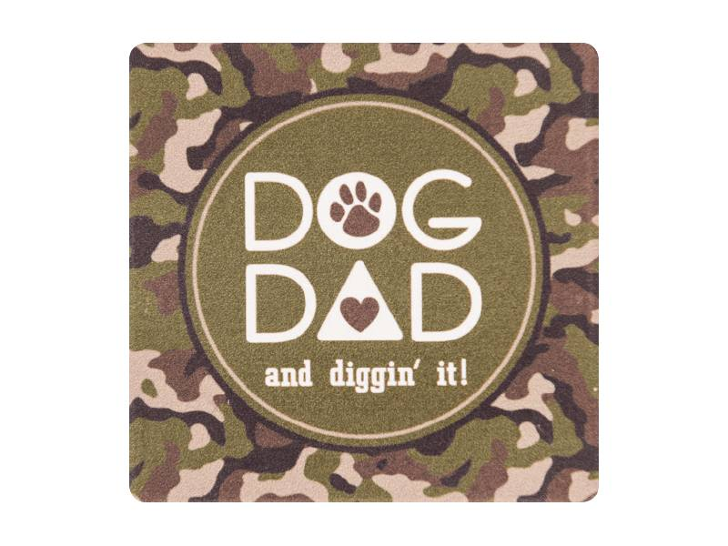 DOG SPEAK DOG SPEAK ABSORBENT STONE COASTER DOG DAD