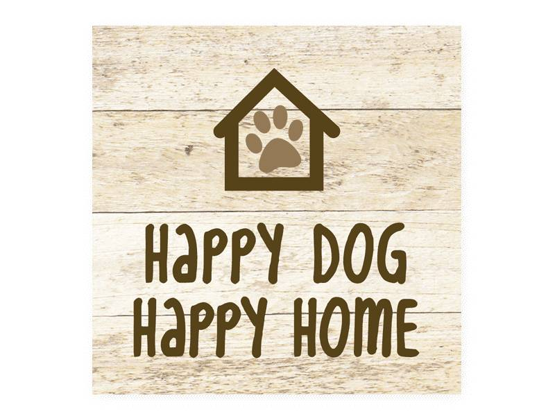 Dog Speak DOG SPEAK WOOD PALLET MAGNET HAPPY DOG HAPPY HOME