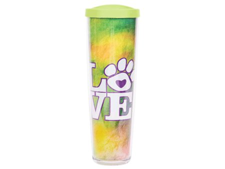 DOG SPEAK DOG SPEAK 24OZ THERMAL TUMBLER TIE DYE LOVE