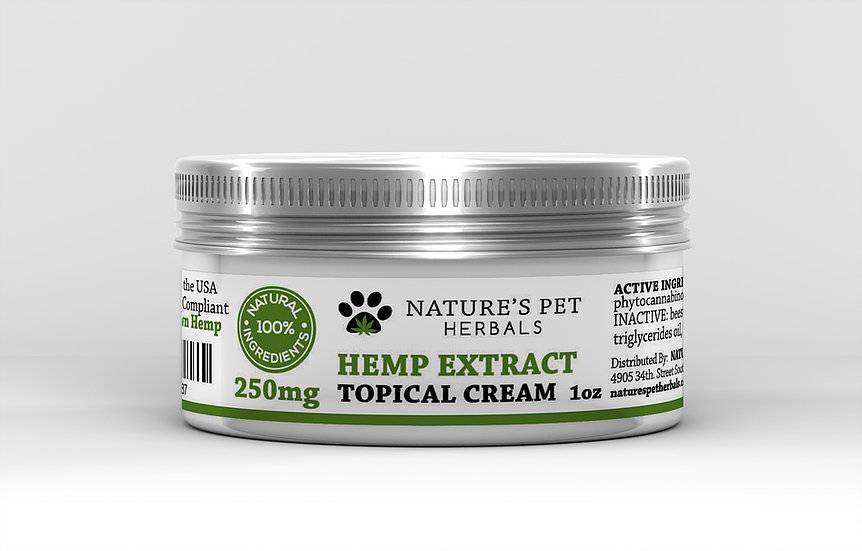 Nature's Pet Herbals Nature's Pet Herbals Hemp Extract Topical Cream