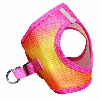 Doggie Design Doggie Design American River Choke Free Harness Ombre Collection Raspberry Pink And Orange