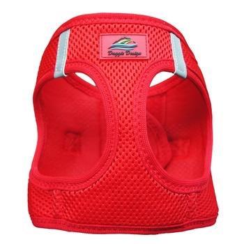 Doggie Design Doggie Design American River Solid Ultra Choke Free Harness Red