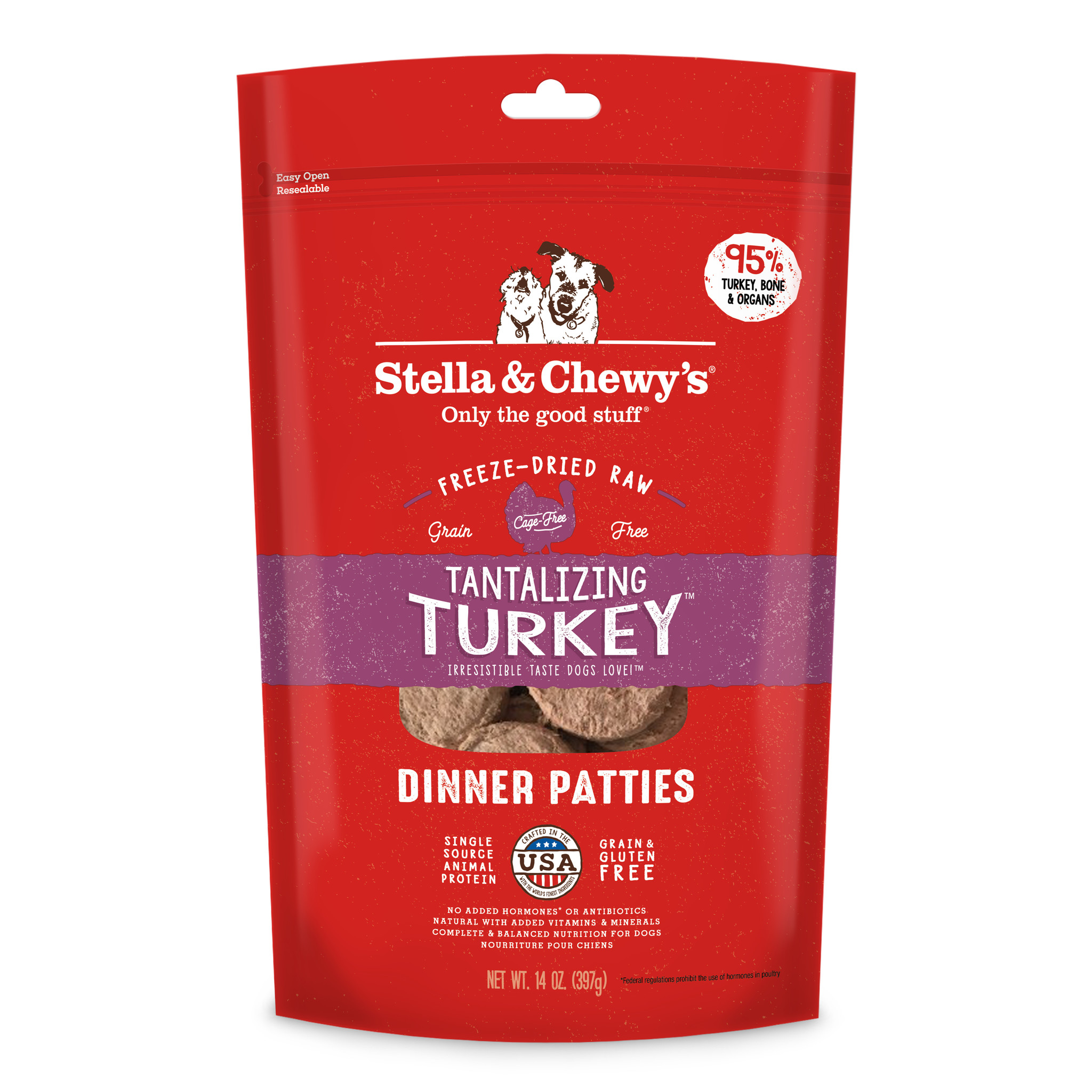 Stella & Chewys Stella & Chewys Tantalizing Turkey Freeze Dried Dinner Patties