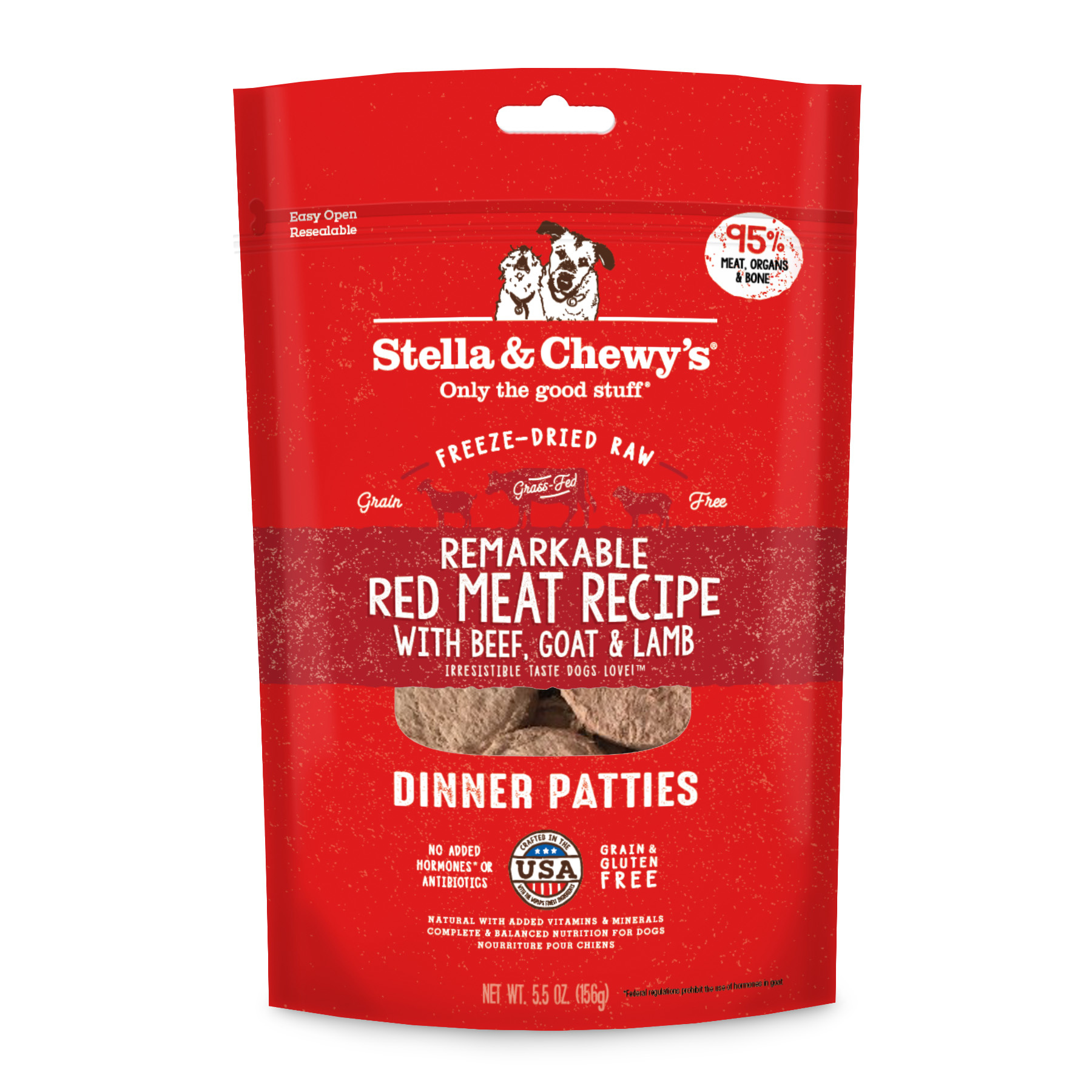 Stella & Chewys Stella & Chewys Remarkable Red Meat Freeze Dried Dinner Patties