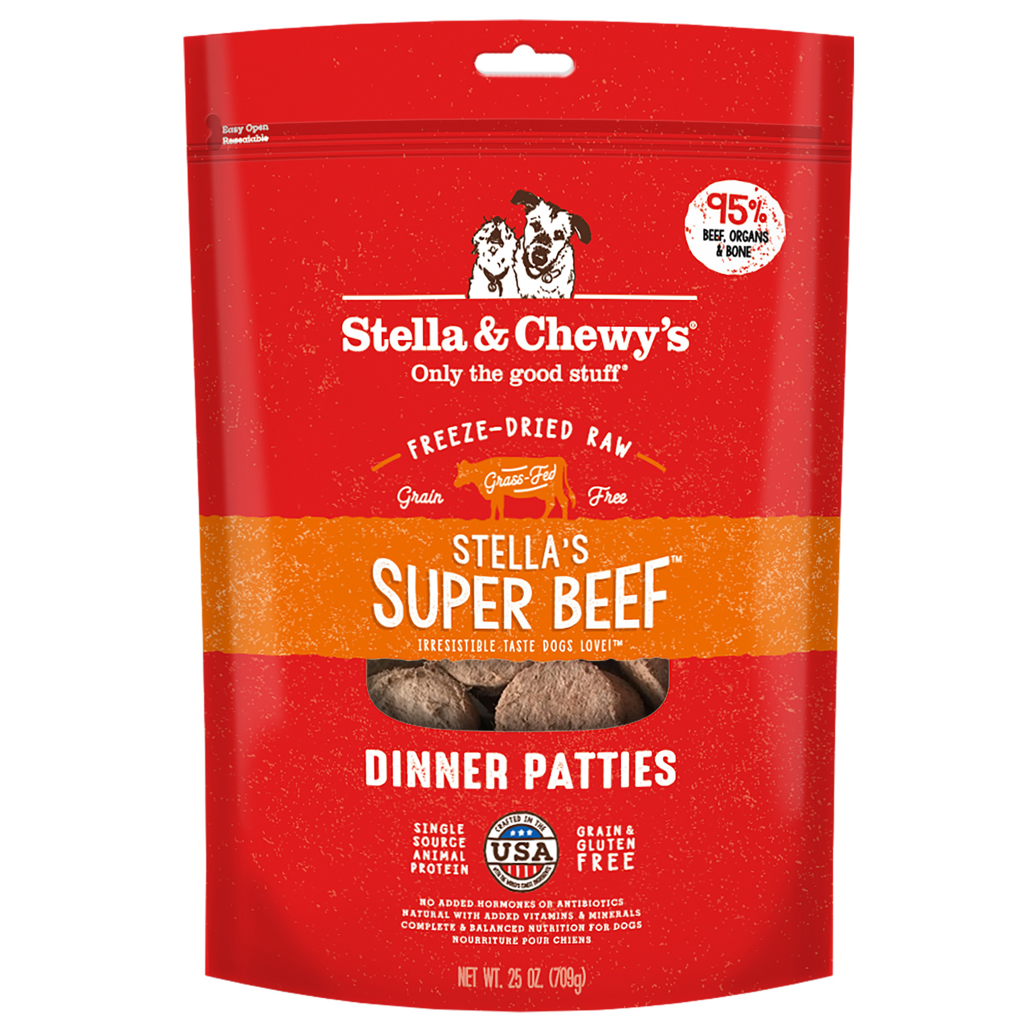 Stella & Chewys Stella & Chewys Super Beef Freeze Dried Dinner Patties