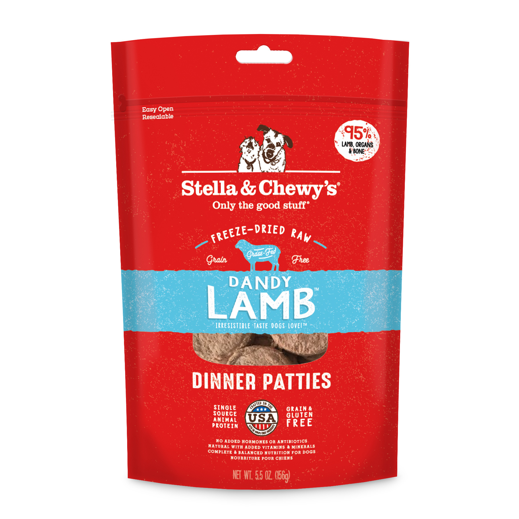 Stella & Chewys Stella & Chewys Dandy Lamb Freeze Dried Dinner Patties