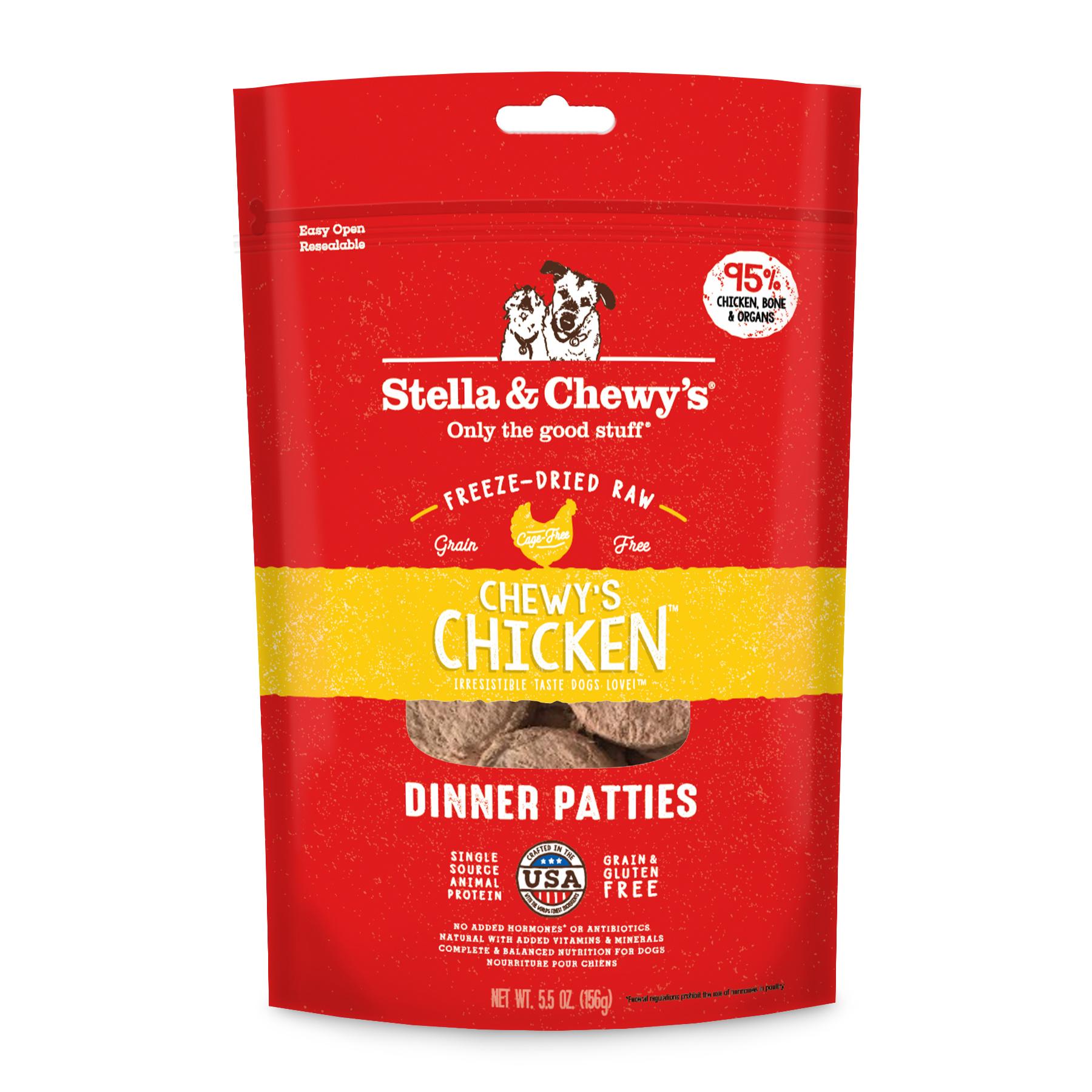 Stella & Chewys Stella & Chewys Chicken Freeze Dried Dinner Patties