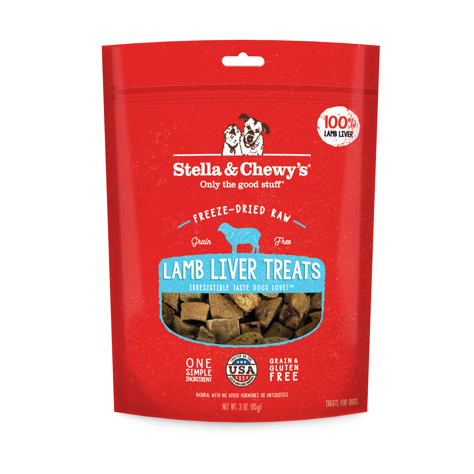 Stella & Chewys Stella & Chewys Freeze Dried Raw Lamb Liver Treats 3oz