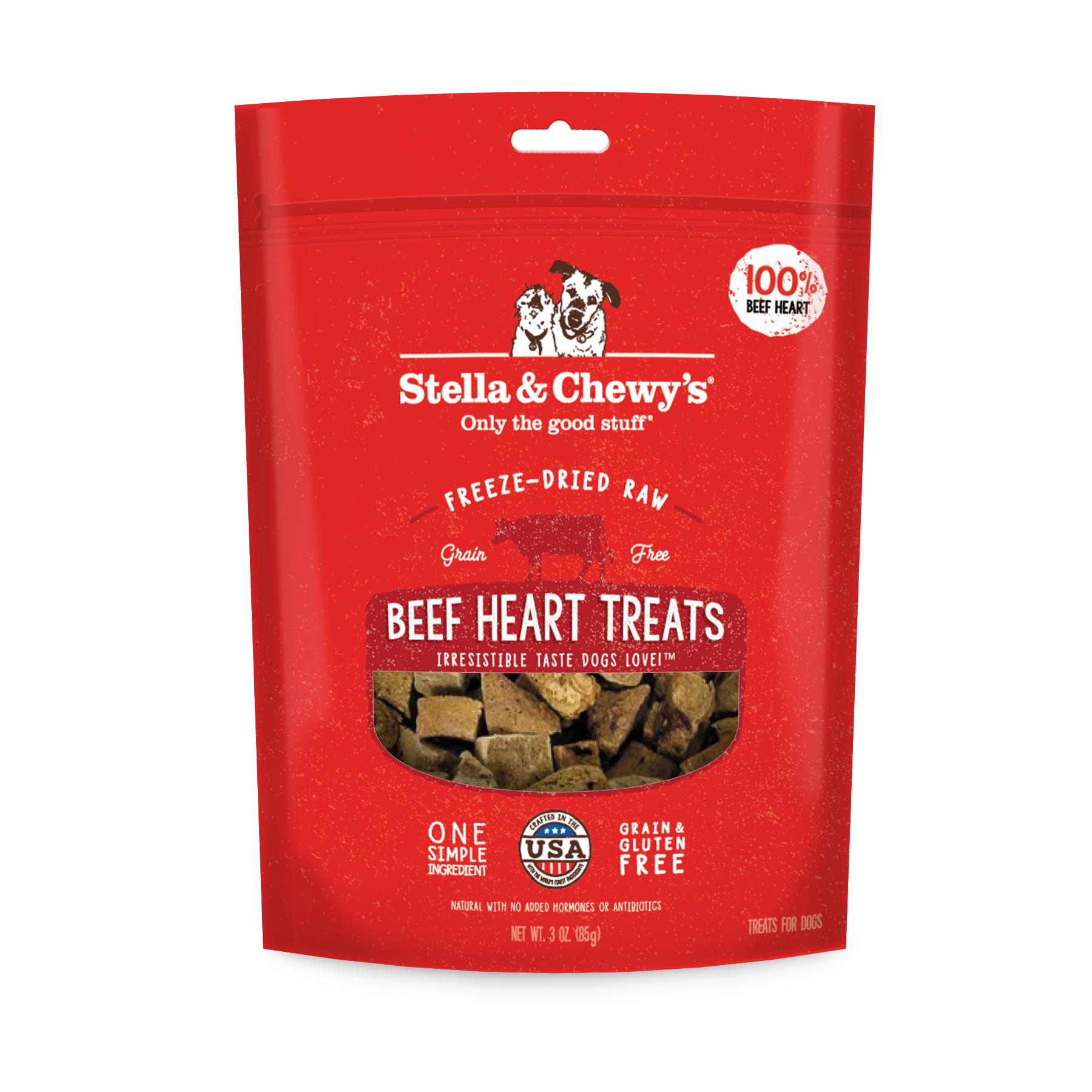 Stella & Chewys Stella & Chewys Freeze Dried Raw Beef Heart Treats 3oz