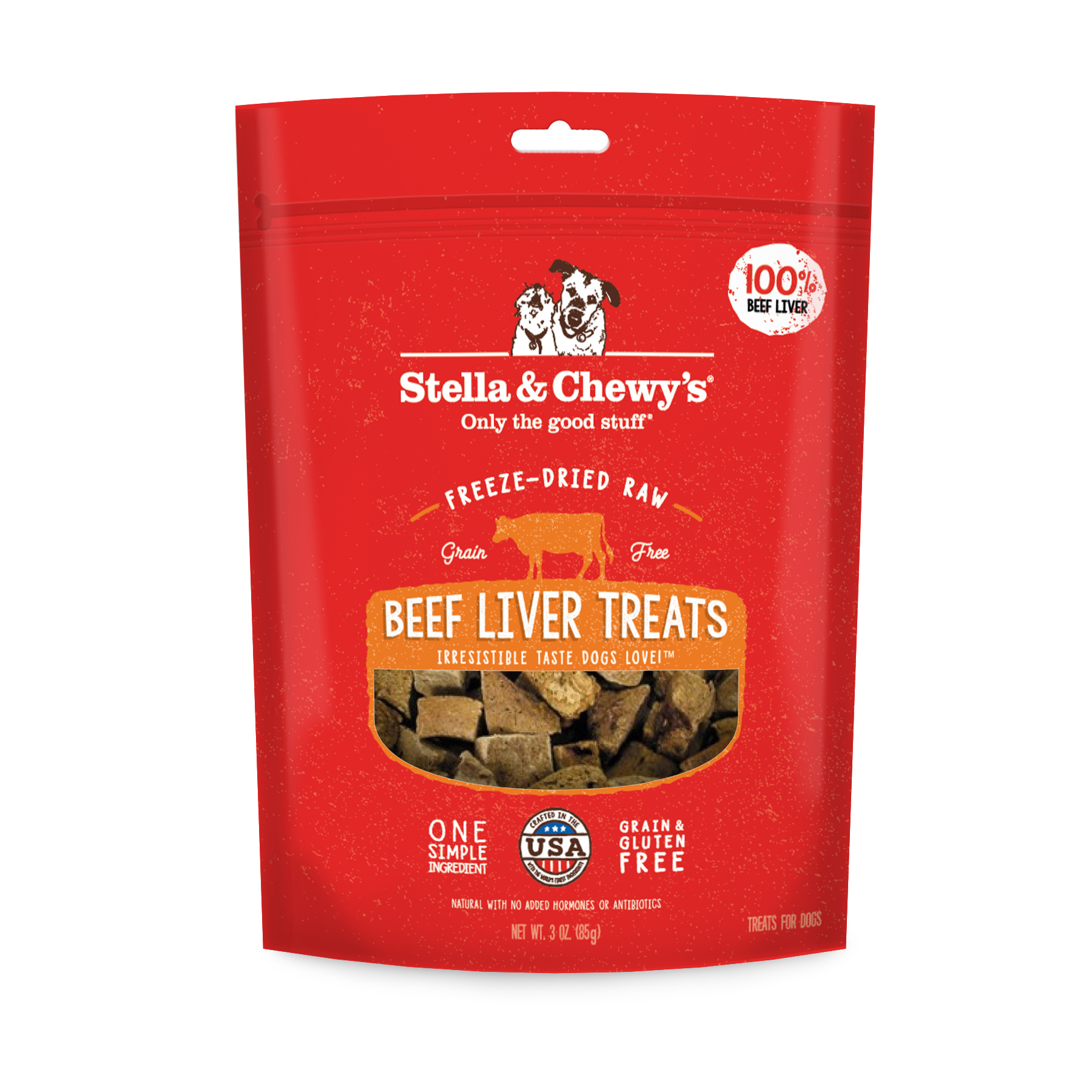 Stella & Chewys Stella & Chewys Freeze Dried Raw Beef Liver Treats 3oz