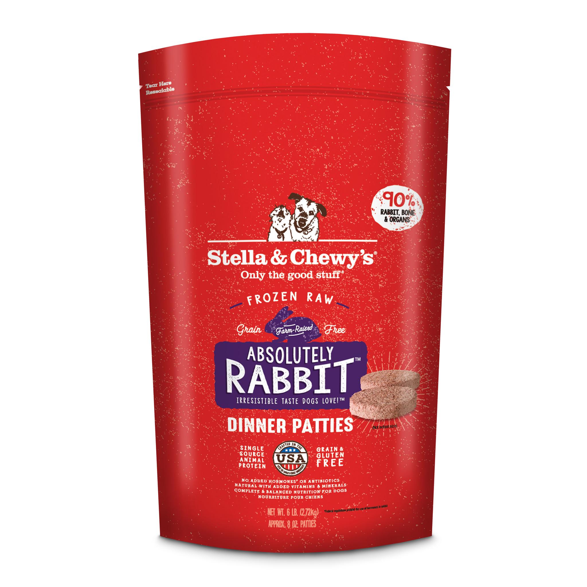 Stella & Chewys Stella & Chewys Absolutely Rabbit Frozen Raw Dinner Patties