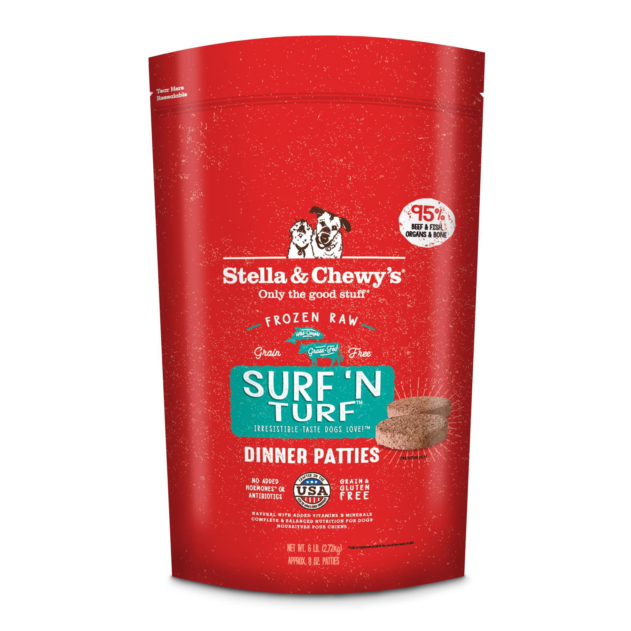 Stella & Chewys Stella & Chewys Surf & Turf Frozen Raw Dinner Patties