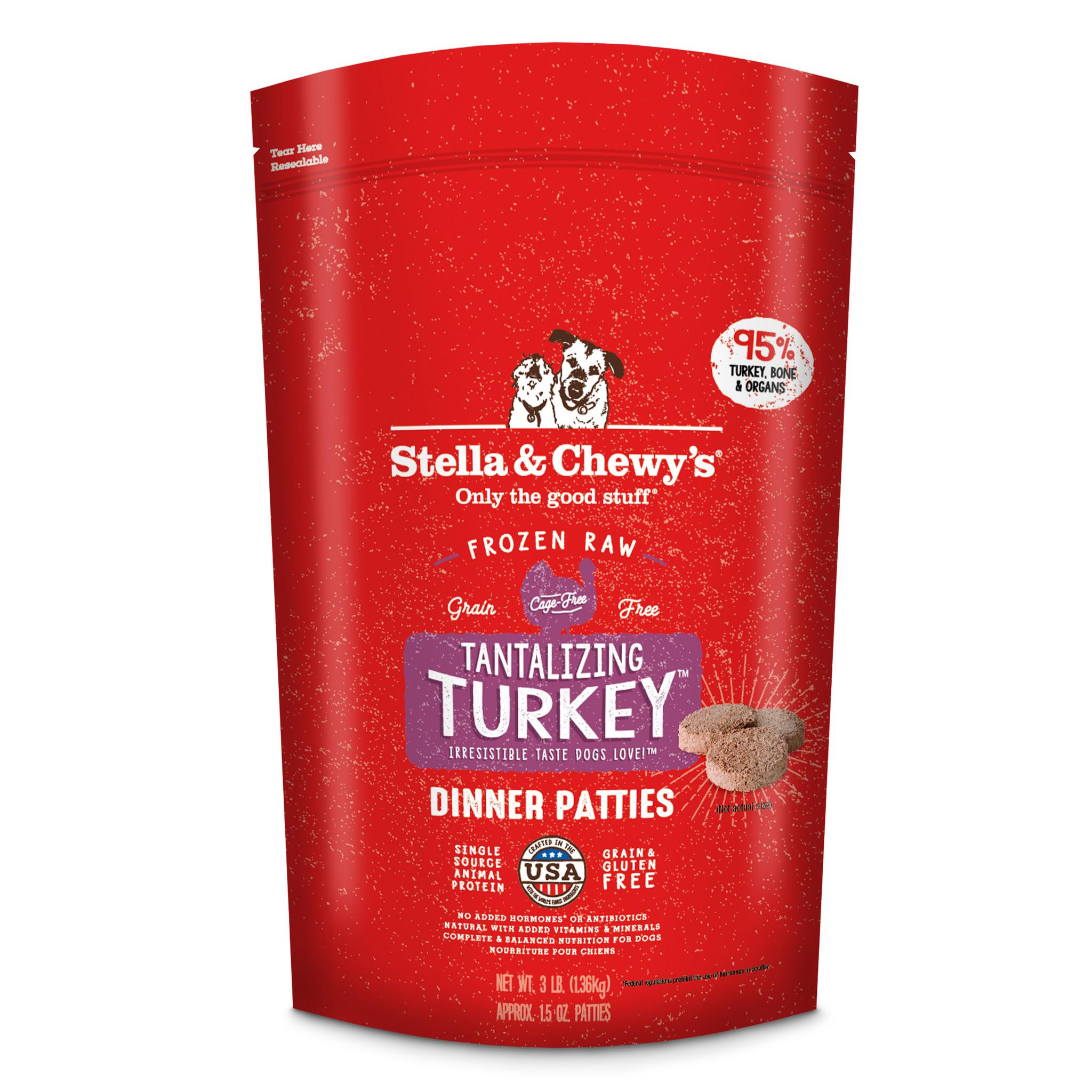 Stella & Chewys Stella & Chewys Tantalizing Turkey Frozen Raw Dinner Patties