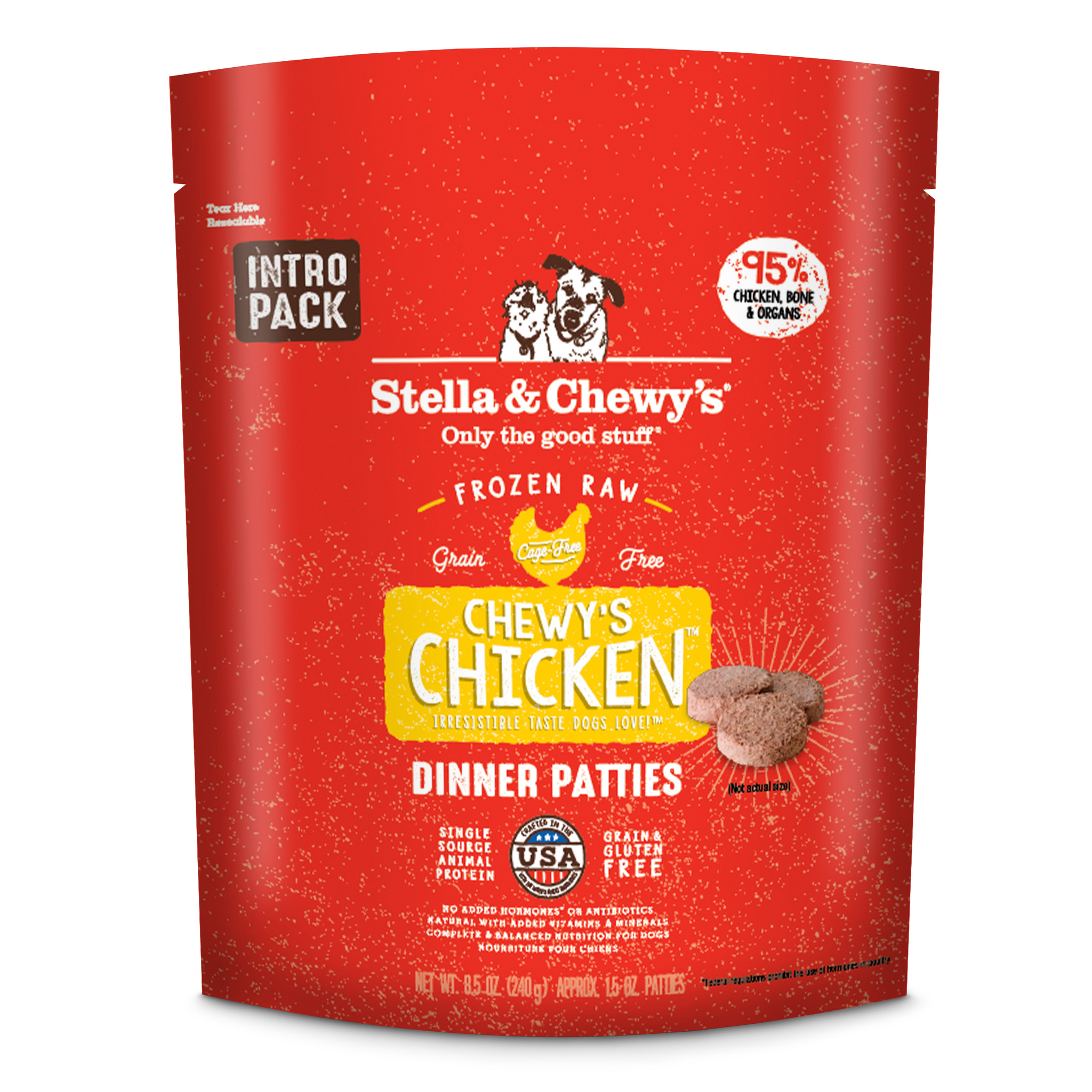 Stella & Chewys Stella & Chewys Chewy's Chicken Frozen Raw Dinner Patties