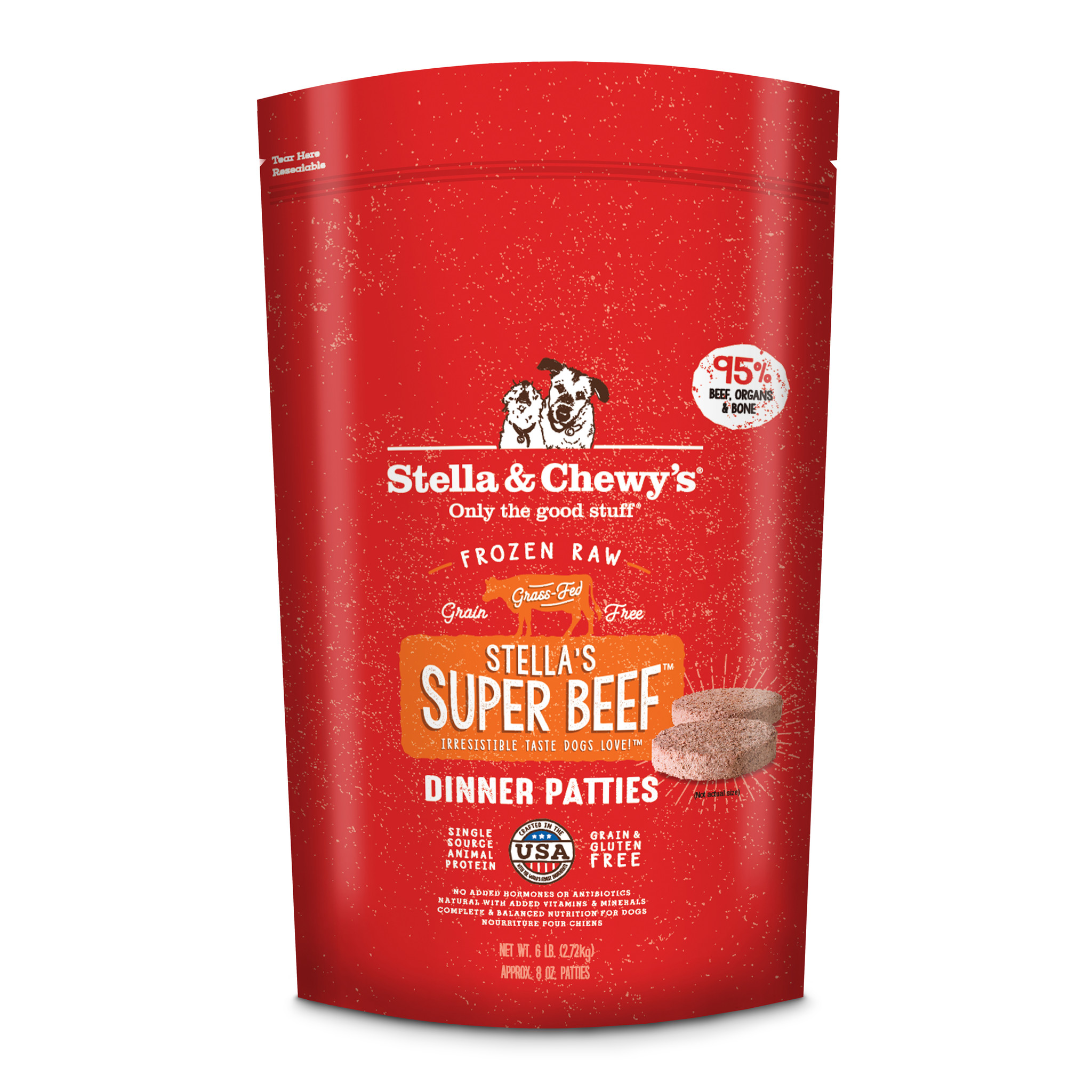 STELLA & CHEWYS STELLA & CHEWYS SUPER BEEF FROZEN RAW DINNER PATTIES