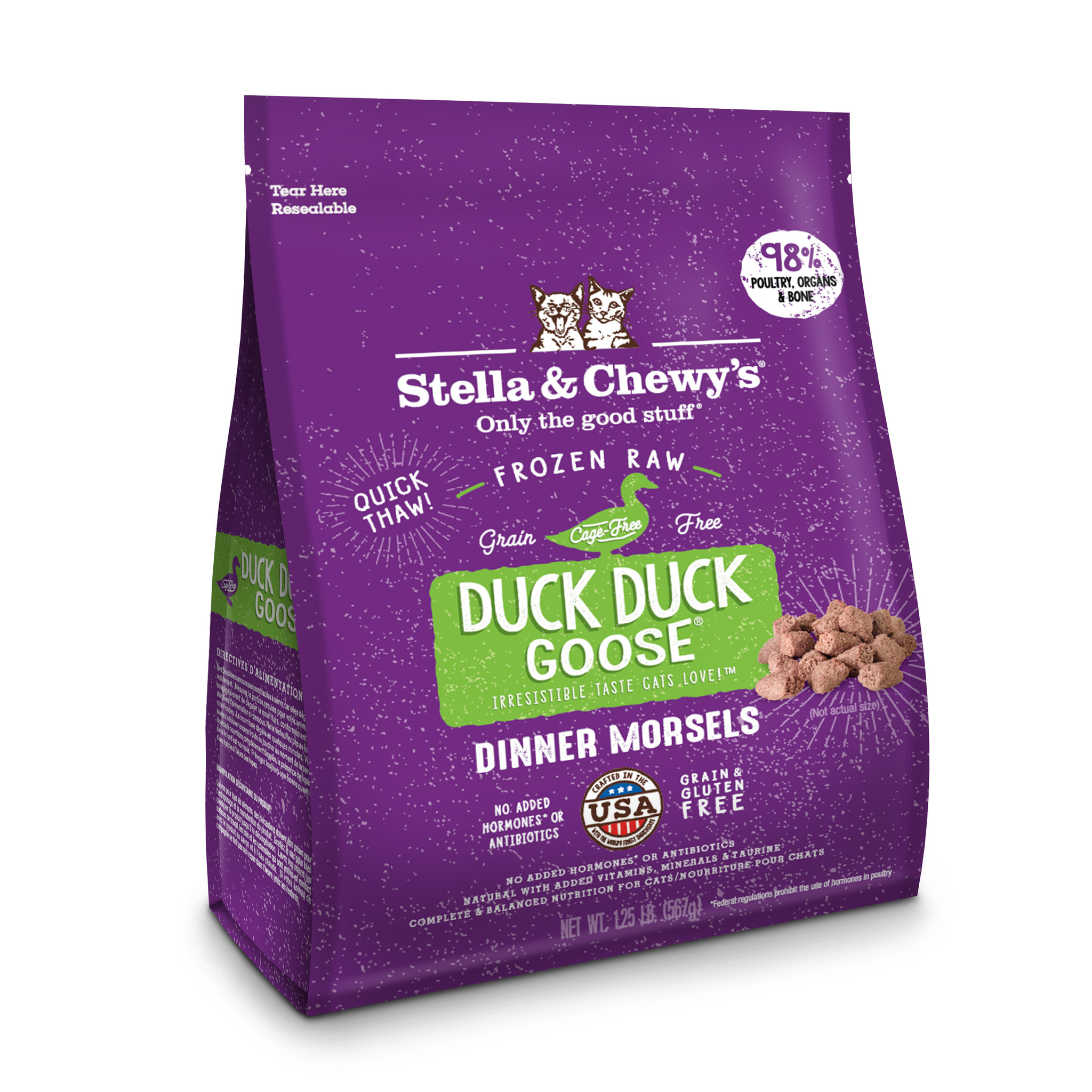 Stella & Chewys Stella & Chewys Duck Duck Goose Frozen Raw Dinner Morsels For Cats 1.25LB