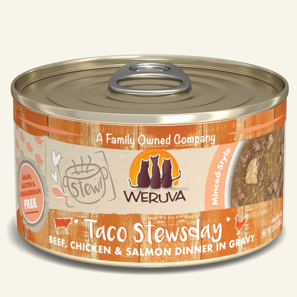 Weruva Weruva Stew! Taco Stewsday Beef, Chicken & Salmon Dinner in Gravy