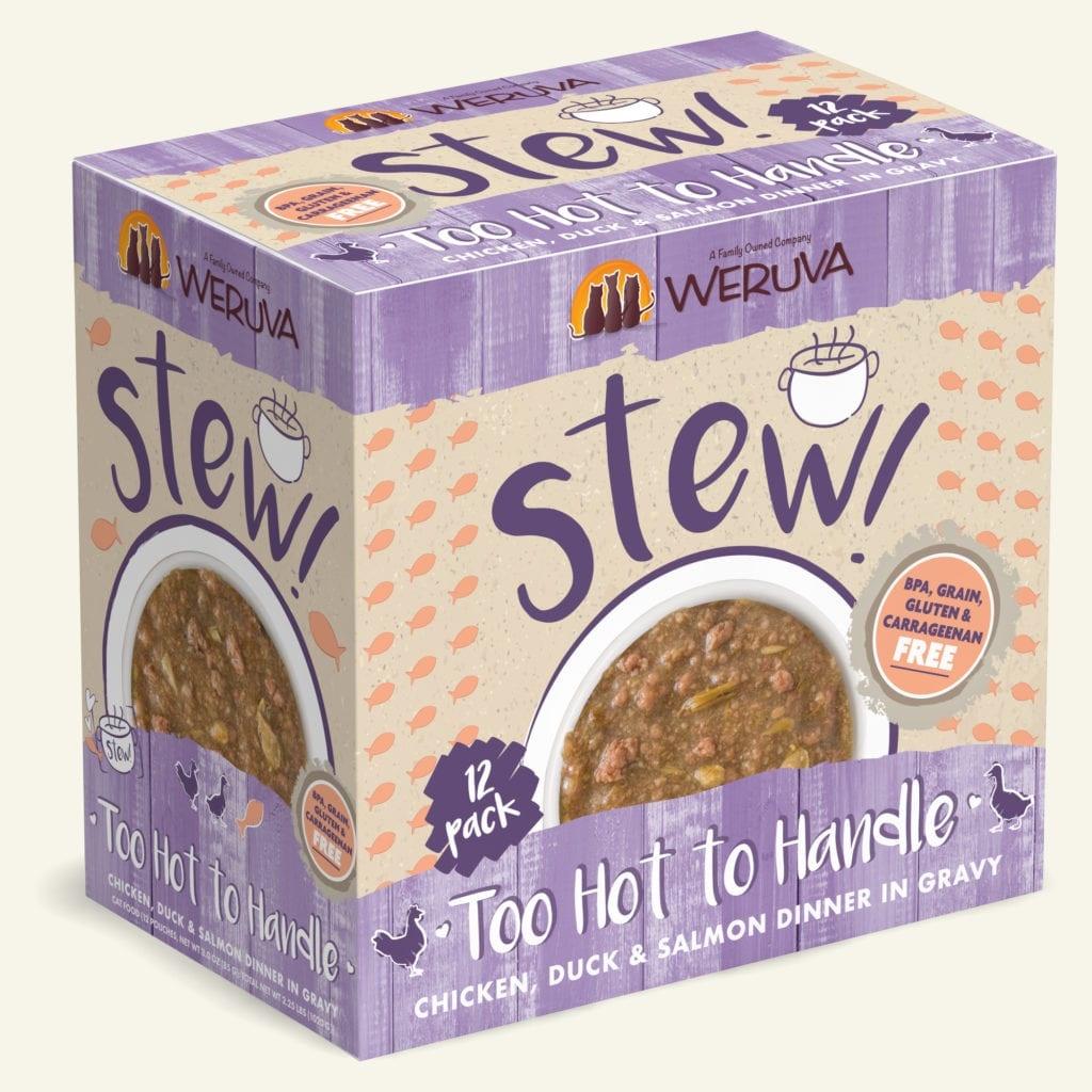 Weruva Weruva Stew! Too Hot to Handle Chicken, Duck & Salmon Dinner in Gravy