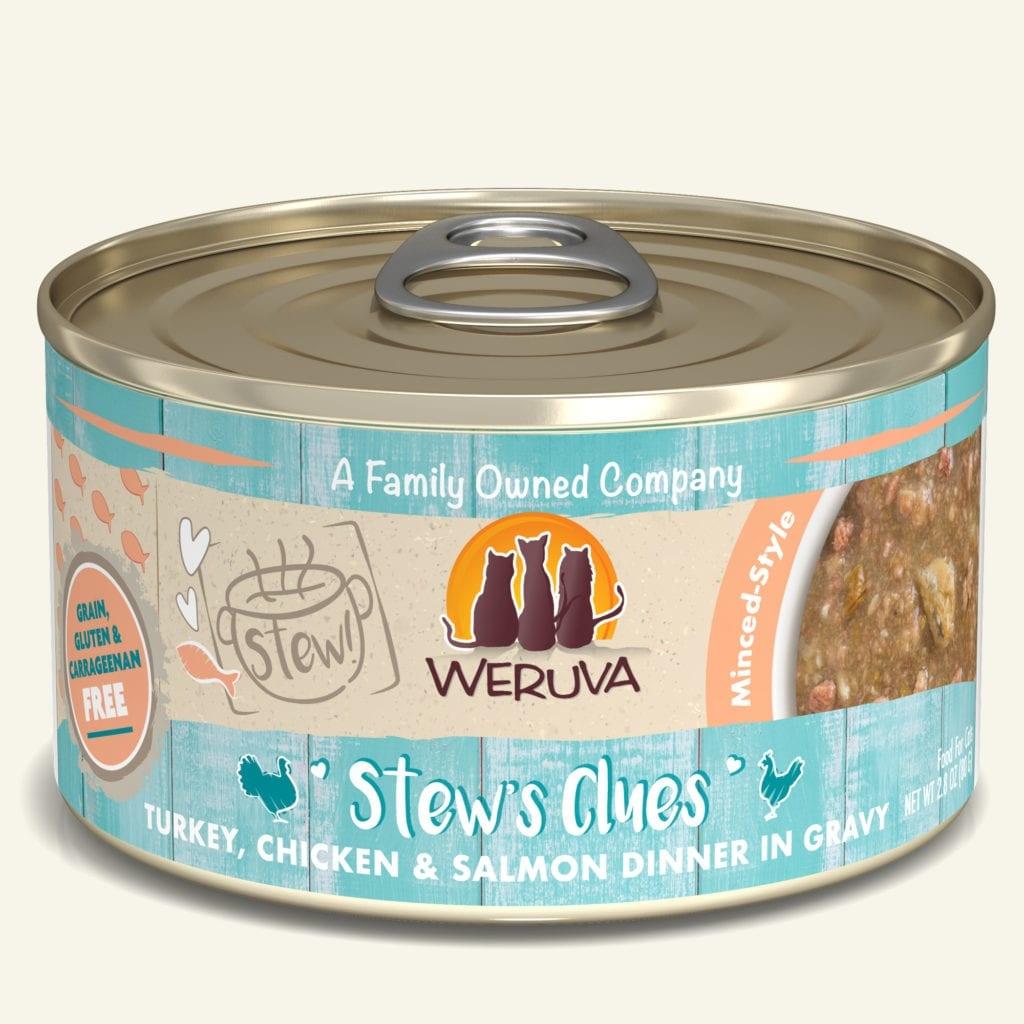 Weruva Weruva Stew! Stew's Clues Turkey, Chicken & Salmon Dinner in Gravy