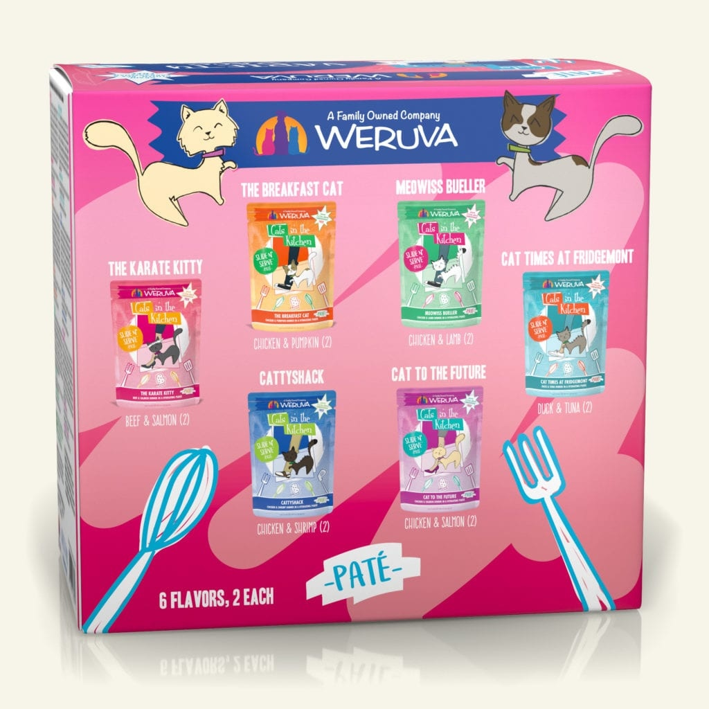 Weruva Weruva Cats in the Kitchen Pate The Brat Pack Variety Pack 3oz Case (12 pouches)