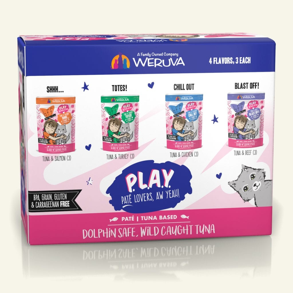 Weruva BFF PLAY Pate Partay! Variety Pack 3oz Case (12 pouches)