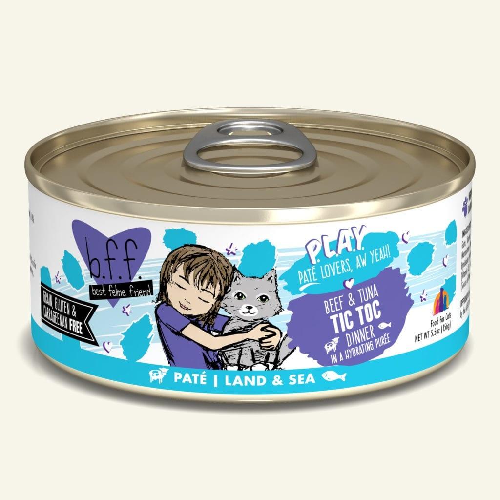 Weruva BFF PLAY Tic Toc Beef & Tuna Dinner