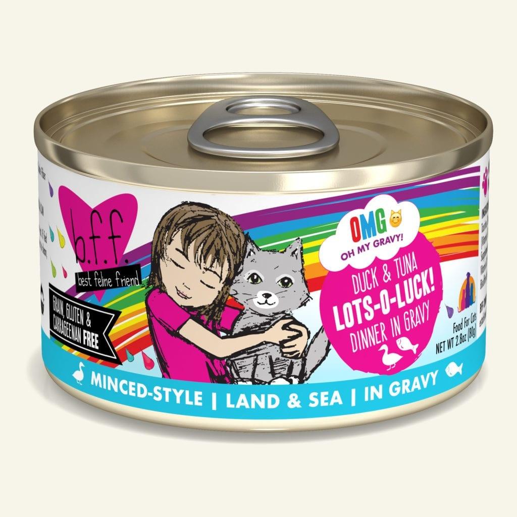 Weruva BFF OMG Duck & Tuna Lots-O-Luck! Duck & Tuna Dinner in Gravy