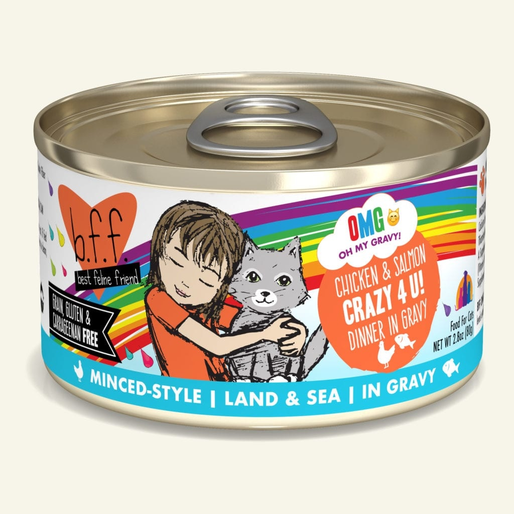 Weruva BFF OMG Crazy 4 U! Chicken & Salmon Dinner in Gravy For Cats