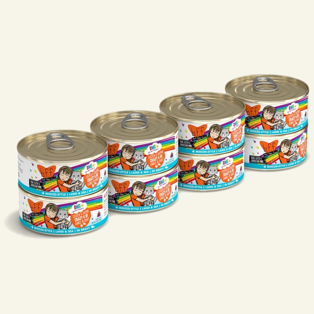 Weruva BFF OMG Crazy 4 U! Chicken & Salmon Dinner in Gravy For Cats