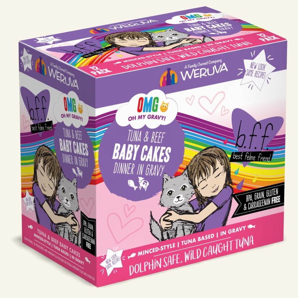 Weruva BFF Baby Cakes Tuna & Beef Dinner in Gravy For Cats