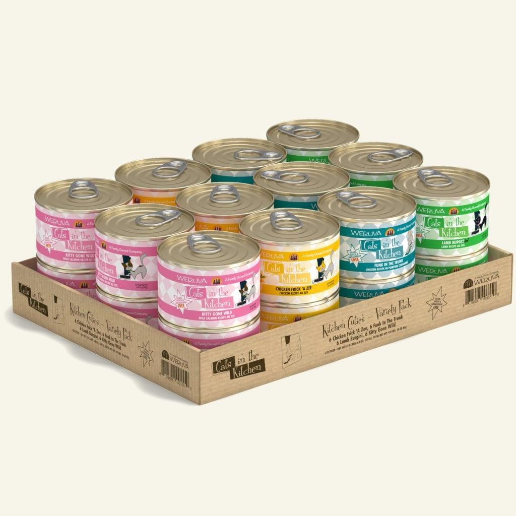 Weruva Weruva Cats in the Kitchen Kitchen Cuties Variety Pack 6oz  (24 cans)