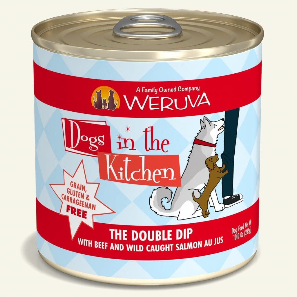 Weruva Weruva Dogs in the Kitchen The Double Dip with Beef & Wild-Caught Salmon Au Jus