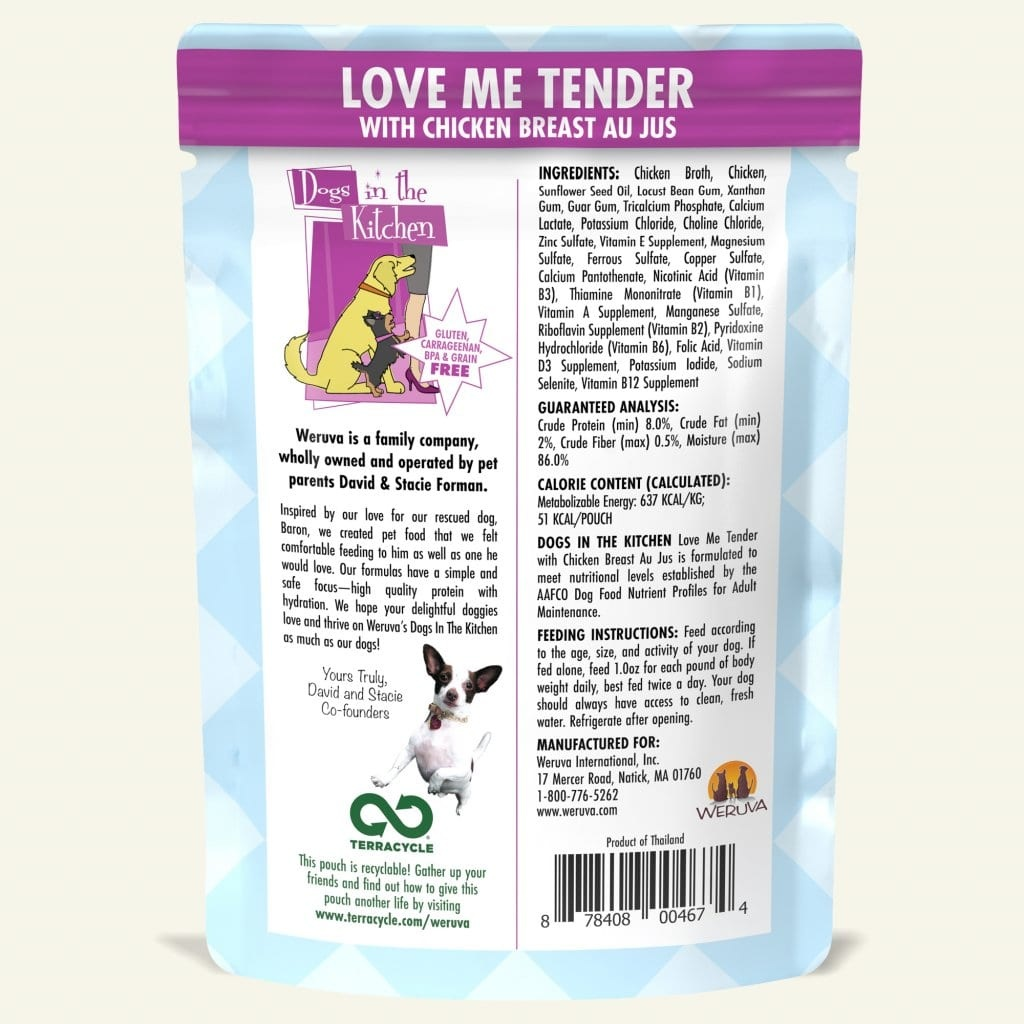 Weruva Weruva Dogs in the Kitchen Love Me Tender with Chicken Breast Au Jus Pouch
