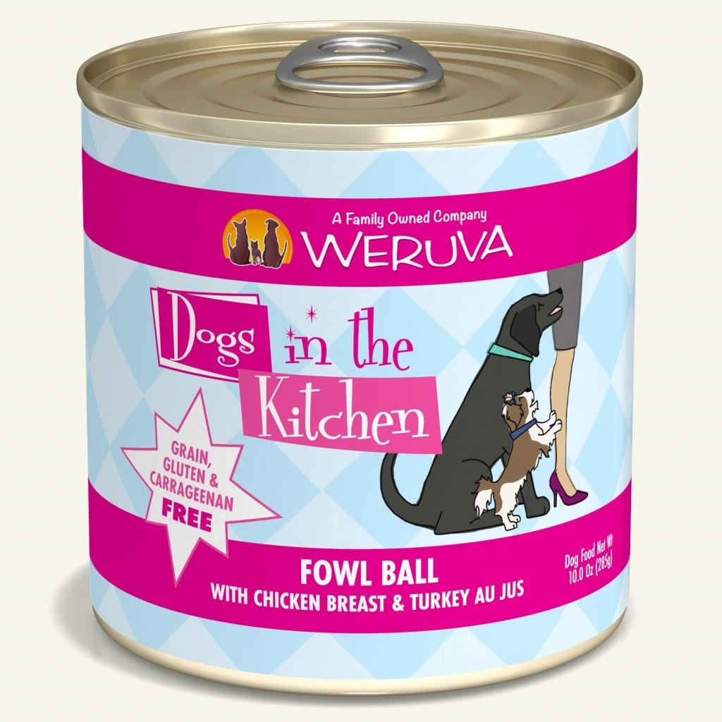Weruva Weruva Dogs in the Kitchen Fowl Ball with Chicken & Turkey Au Jus