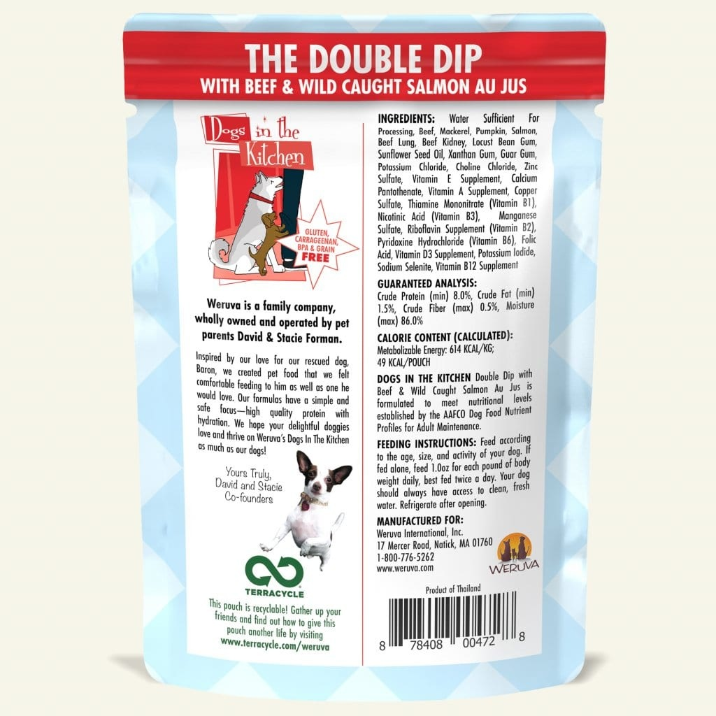 Weruva Weruva Dogs in the Kitchen The Double Dip with Beef & Wild-Caught Salmon Au Jus Pouch