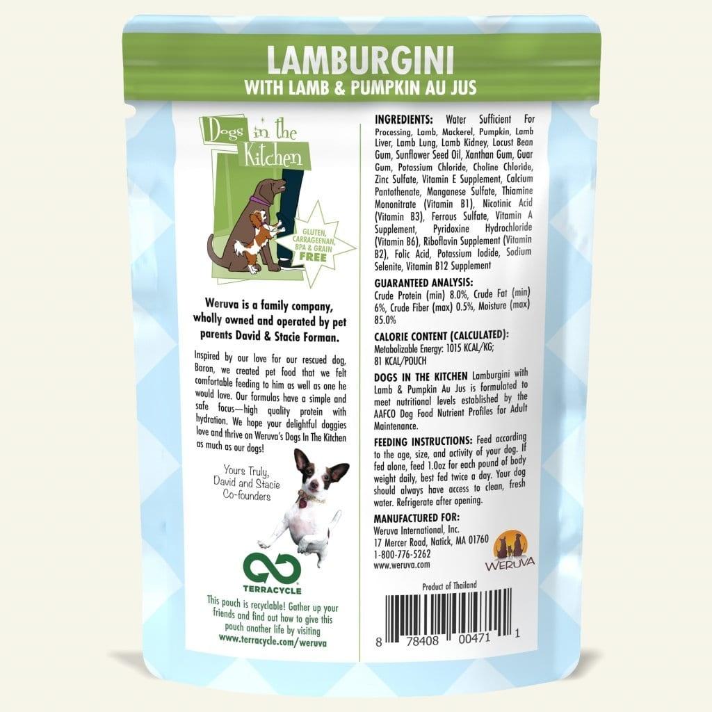 Weruva Weruva Dogs in the Kitchen Lamburgini with Lamb & Pumpkin Au Jus Pouch
