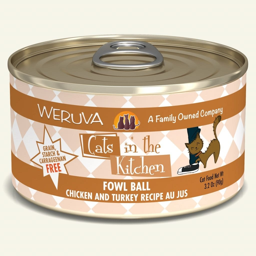 Weruva Weruva Cats in the Kitchen Fowl Ball Chicken and Turkey Recipe Au Jus For Cats