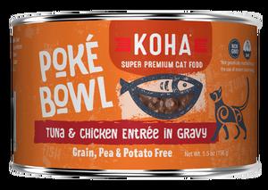 Koha Koha Poke Bowl Tuna & Chicken Entree in Gravy For Cats