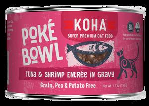 Koha Koha Poke Bowl Tuna & Shrimp Entree in Gravy For Cats