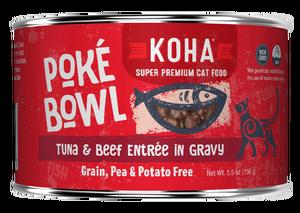 Koha Koha Poke Bowl Tuna & Beef Entree in Gravy For Cats