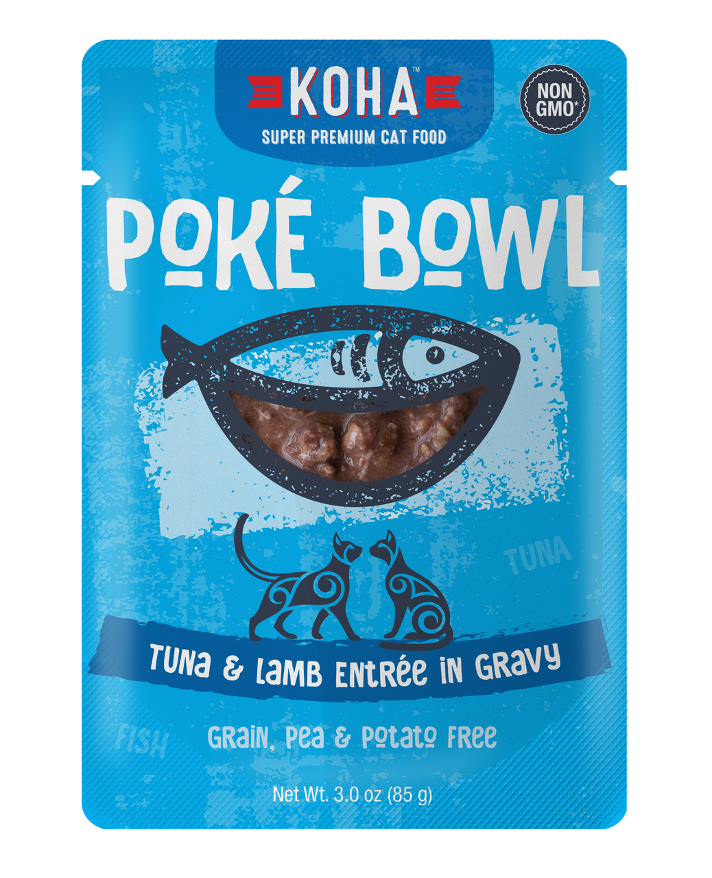 Koha Koha Poke Bowl Tuna & Lamb Entree in Gravy For Cats