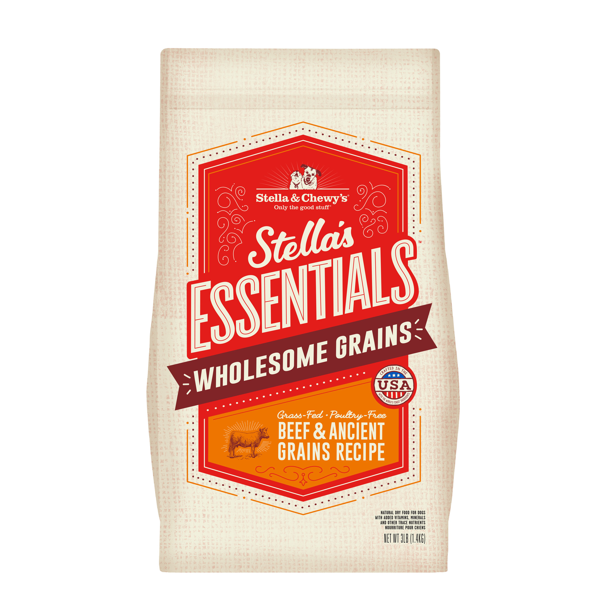 Stella & Chewys Stella & Chewys Stella's Essentials Grass-Fed Beef & Ancient Grains Recipe