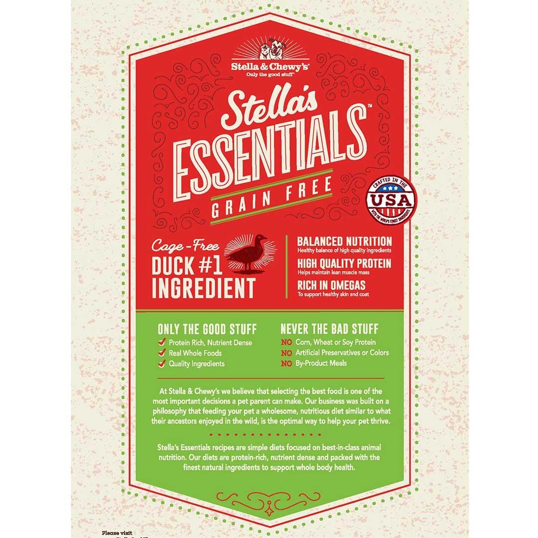 Stella & Chewys Stella & Chewys Stella's Essentials Grain Free Duck & Lentils Recipe