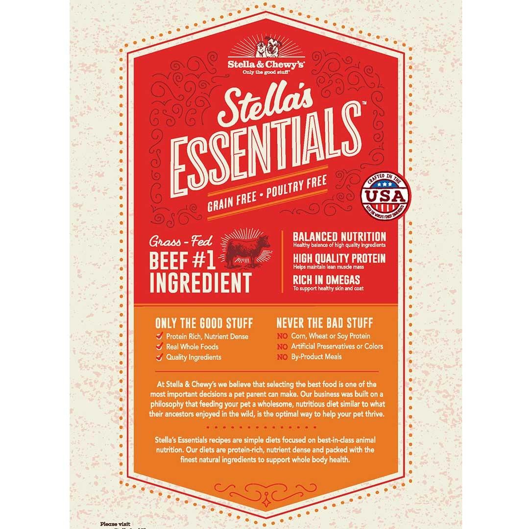Stella & Chewys Stella & Chewys Stella's Essentials Grain Free Beef & Lentils Recipe