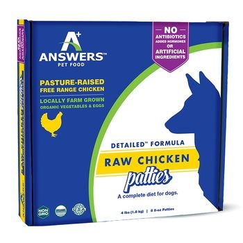 Answers Answers Detailed Formula Raw Chicken Patties 4lb