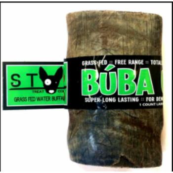 Diggin Your Dog Buba Chew Grass Fed Water Buffalo Horn Large