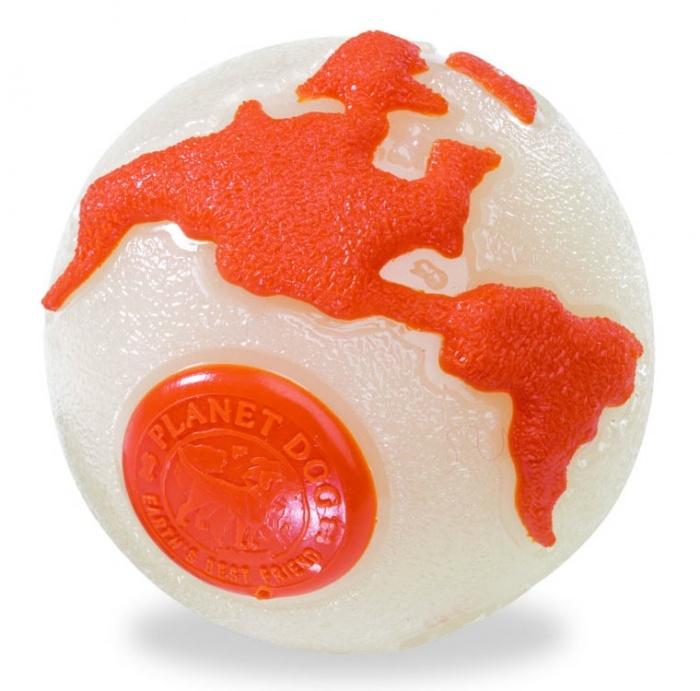 Planet Dog Planet Dog Orbee-Tuff Orbee Ball, Glo/Orange, Large