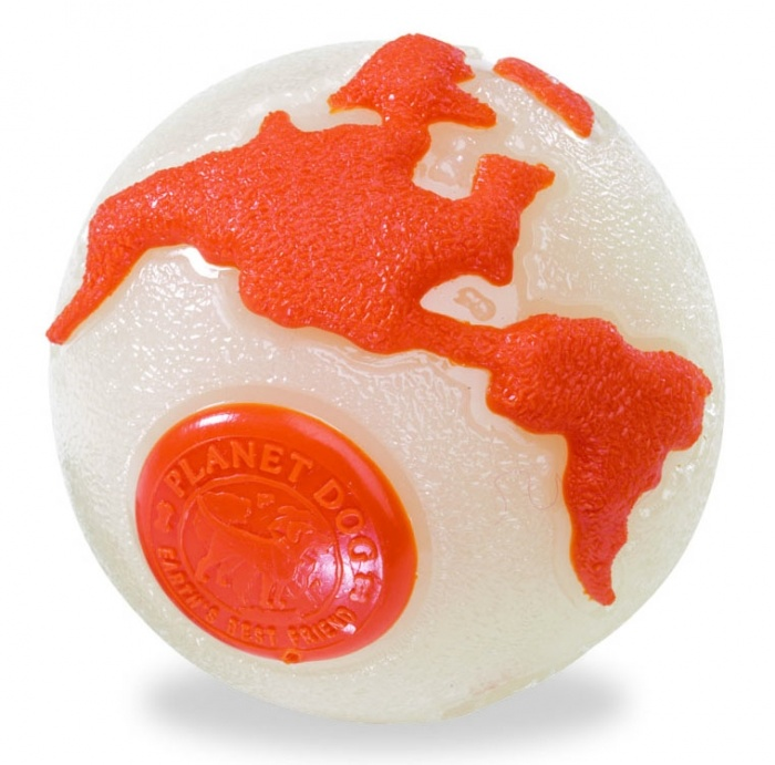 Planet Dog Planet Dog Orbee-Tuff Orbee Ball, Glo/Orange, Medium